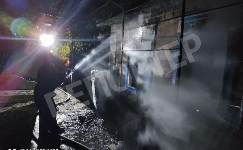 На пожаре под Запорожьем обнаружили два трупа