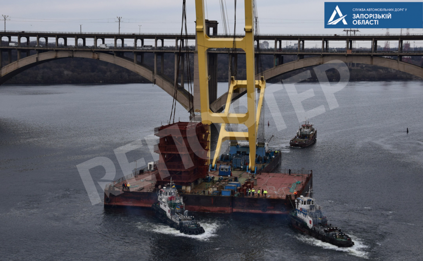 Даёшь переправу! «Захарий» интенсивно строит запорожский мост