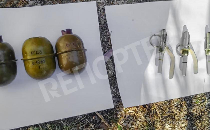 У запорожцев нашли гранаты, пулемет, пистолеты и ружья