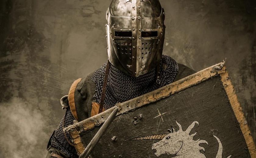 В Запорожье был замечен рыцарь в доспехах