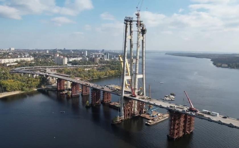 Долгожданный объект: захватывающее видео строительства моста в Запорожье