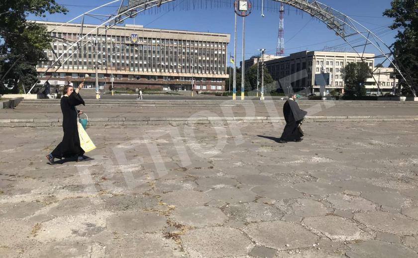 Запорожские священники освятили место после ЛГБТ-прайда
